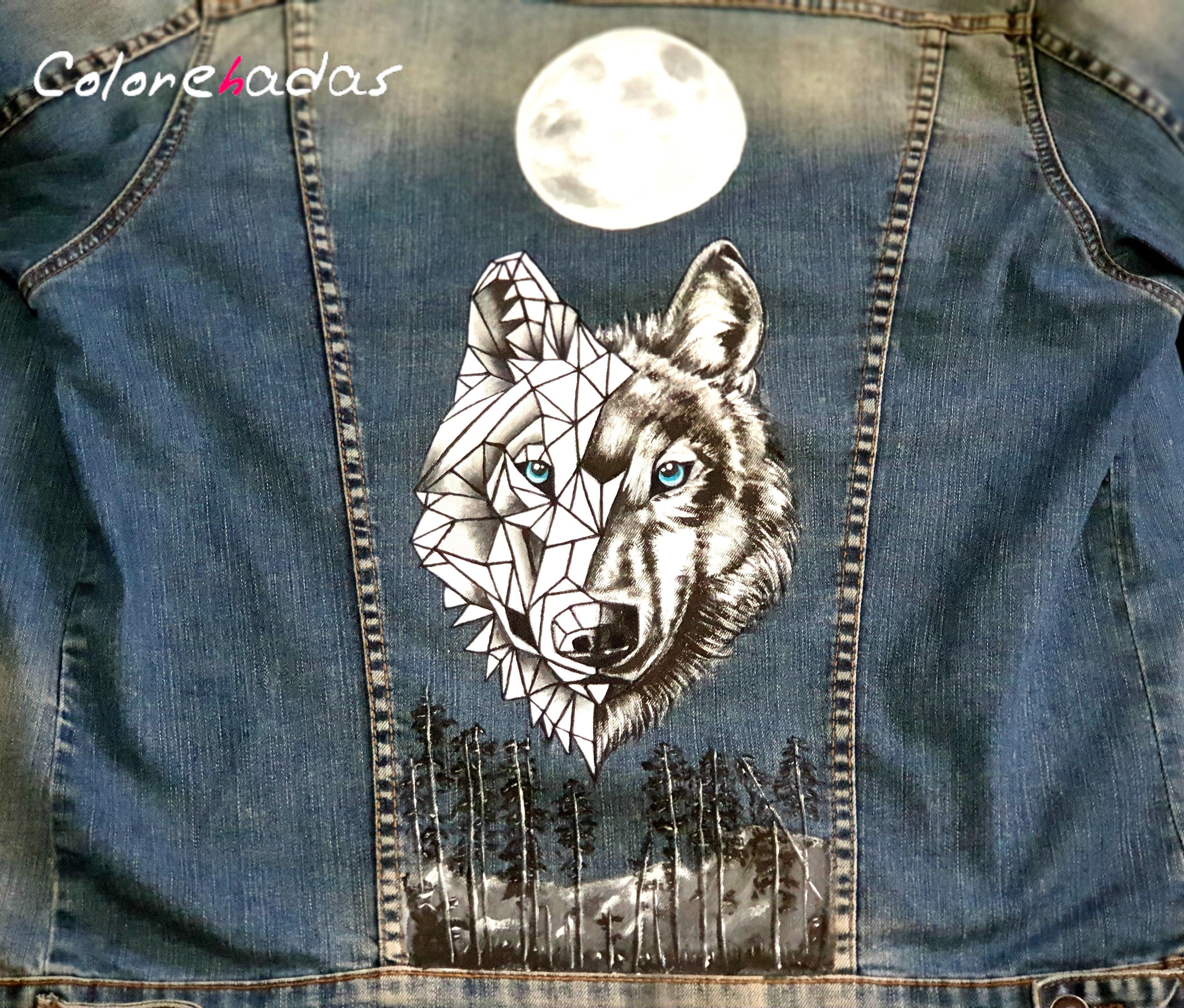 cazadora logo lobo