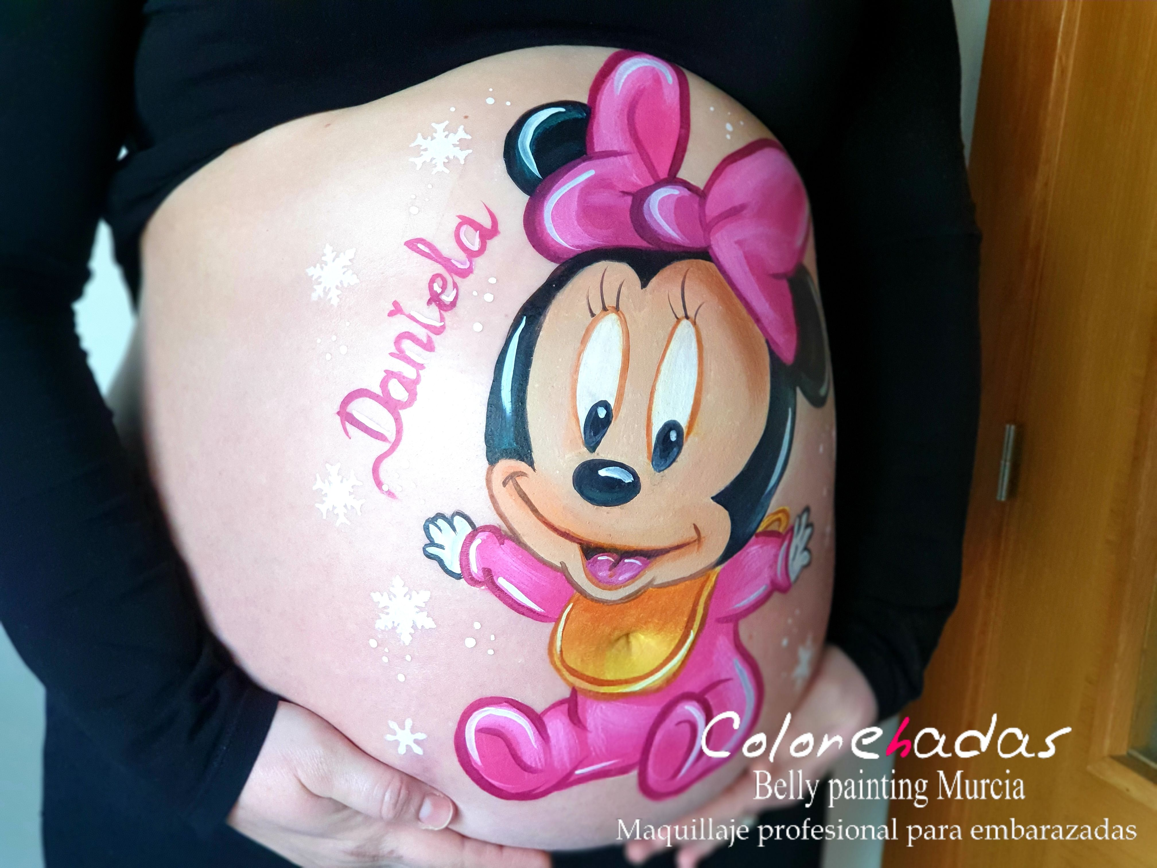 Belly Painting Minnie grande 3