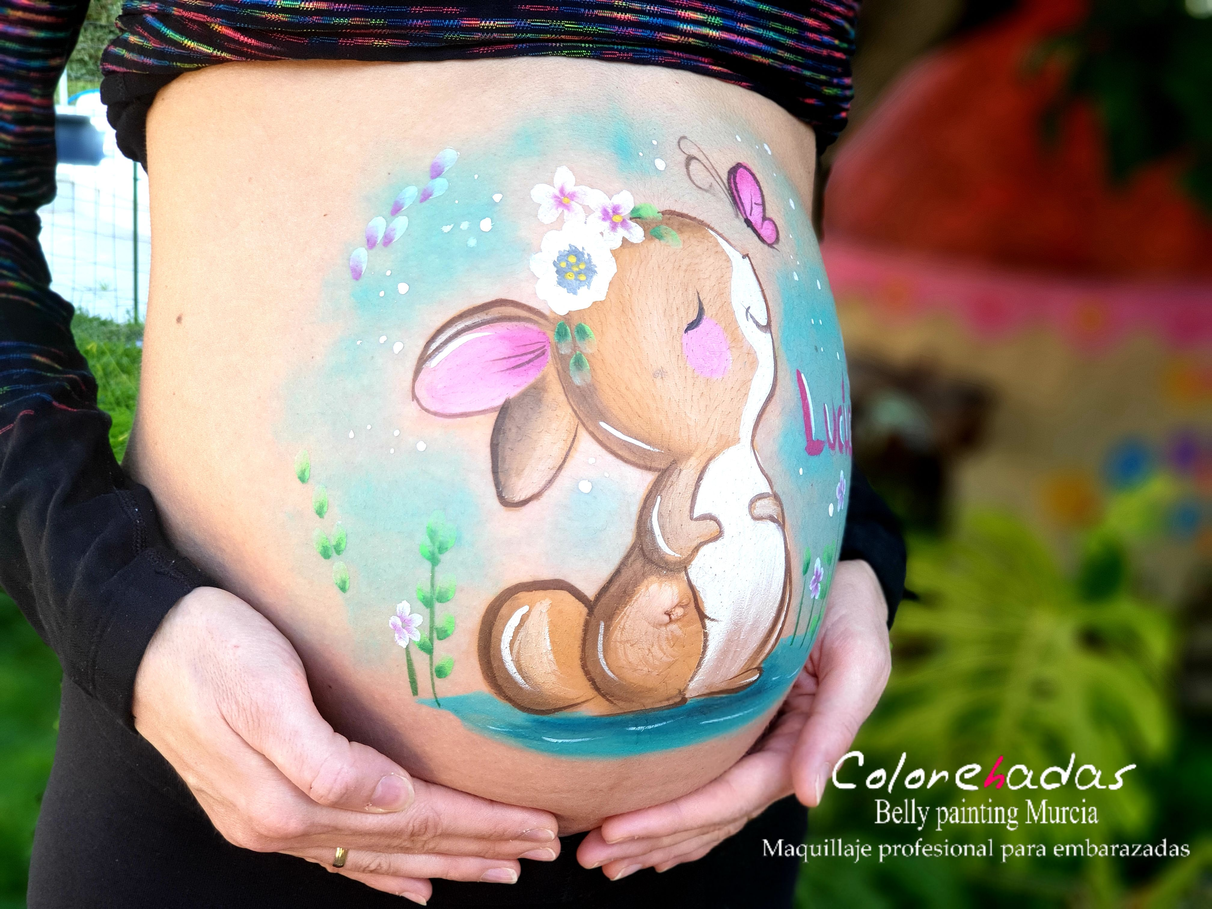 Belly painting Conejita 2